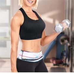 ELEADY High Compression Bra Full Cup with Front-Zipper Wire-Free