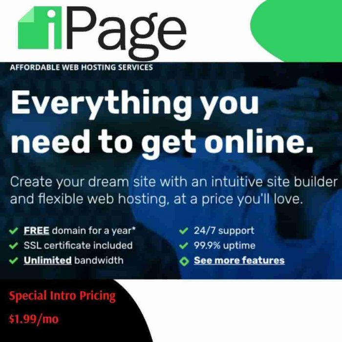 Create Your Affordable Website With Ipage Web Hosting Services With Special Features & Discount