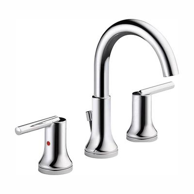 Widespread Bathroom Faucet   8 Inch Brushed Nickel   Steelless Material