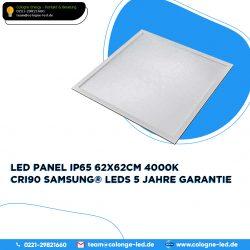 LED Panel IP65 62x62cm 4000K CRI90 Samsung® LEDs 5 Jahre Garantie