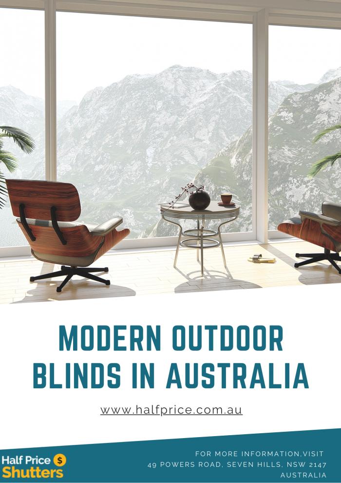 Best Modern Outdoor Blinds in Australia