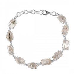 Petroleum Herkimer Diamond Rough Bracelet