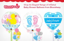 Shop an Elegant Range of Inflated Baby Shower Balloons from BloonAway