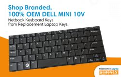 Shop Branded, 100% OEM DELL MINI 10V Netbook Keyboard Keys from Replacement Laptop Keys