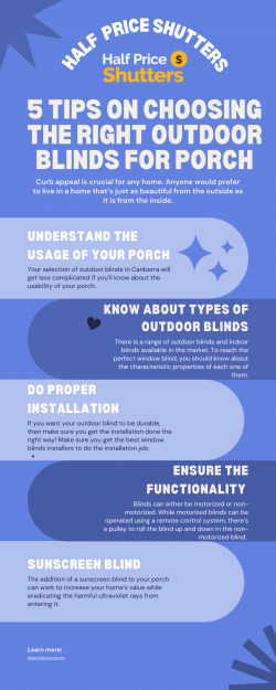 5 Tips on Choosing the Right Outdoor Blinds for Porch