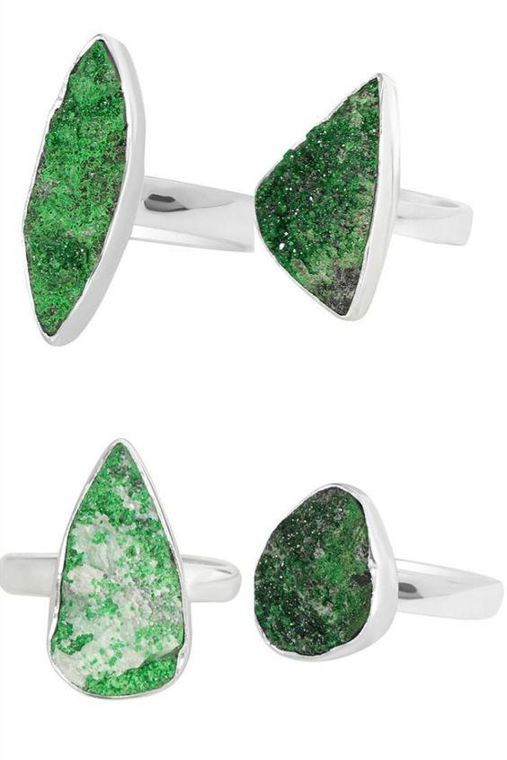Wholesale Genuine Uvarovite Stone Jewelry