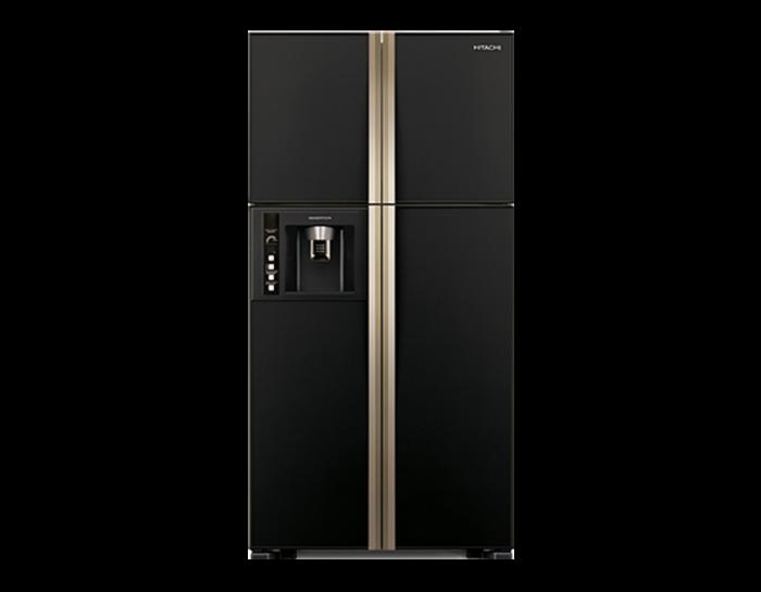 Hitachi 2 door fridge with freezer on bottom