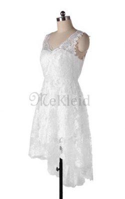 A-Line Chiffon Ärmelloses Brautkleid mit Applikation mit Bordüre – MeKleid.de