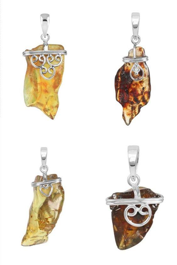Shop Natural Yellow Amber Stone Jewelry