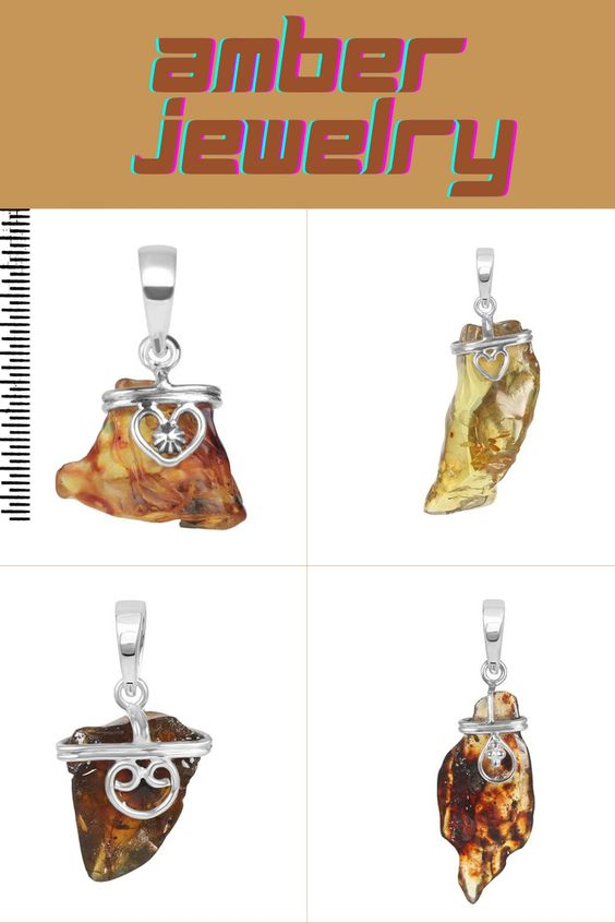 Buy Sterling Amber Stone Jewelry