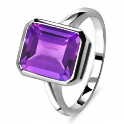 Amethyst Sterling Silver Rings Collection