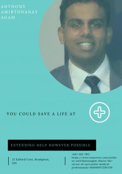 Anthony Amirthanayagam Philosophy Of MEDICAL PROFESSIONAL