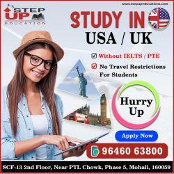 Apply USA/UK Study Visa Without IELTS