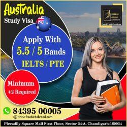 Australia Study Visa With 5.5 / 5 Bands IELTS / PTE