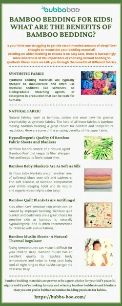 BAMBOO BEDDING FOR KIDS WHAT ARE THE BENEFITS OF BAMBOO BEDDING