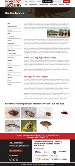 Bed bug control langley