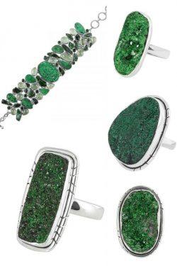 Buy Natural Green uvarovite Stone jewelry