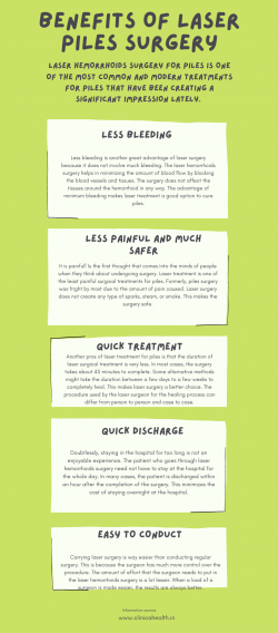 Benefits of Laser Surgery For Piles – Clinica health