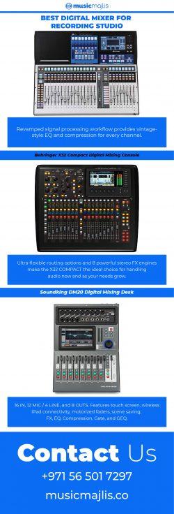 Best Digital Mixer for Recording Studio – MusicMajlis