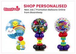 Shop Personalised New Job / Promotion Balloons Online from BloonAway