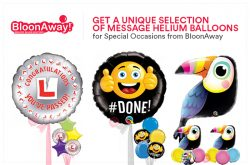 Get a Unique Selection of Message Helium Balloons for Special Occasions from BloonAway