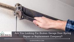 Broken Garage Spring Repair and Replacement in Sacramento