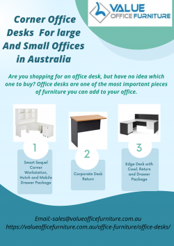 Corner Office Desks For Large And Small Offices in Australia