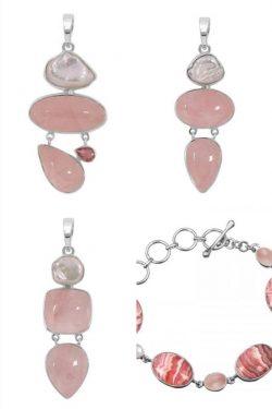 Genuine Rose Quartz Stone Jewelry at Wholesale prices