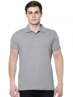 LIQUID POLO WITHOUT POCKET T-SHIRT – GREY