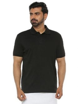 LIQUID POLO WITHOUT POCKET T-SHIRT – BLACK