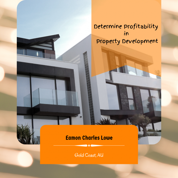 Eamon Charles Lowe – How To Determine Profitability in Property Development