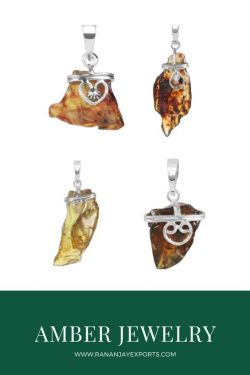 Buy Nutural Amber Stone Jewelry