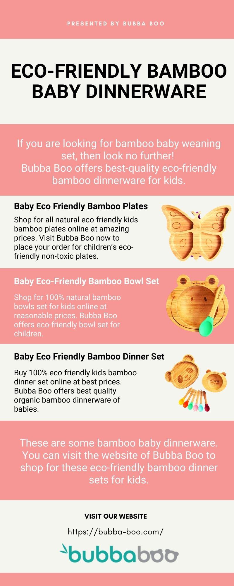 ECO-FRIENDLY BAMBOO BABY DINNERWARE