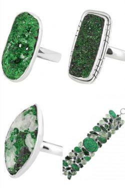 Wholesale Silver Uvarovite Stone Jewelry