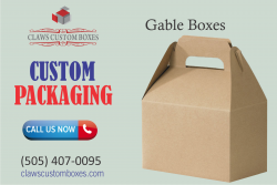 Gable Boxes  Custom Packaging Boxes  Claws Custom Boxes