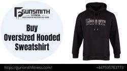 Buy Oversized Black Sweatshirt Online | Gunsmith Fitness
