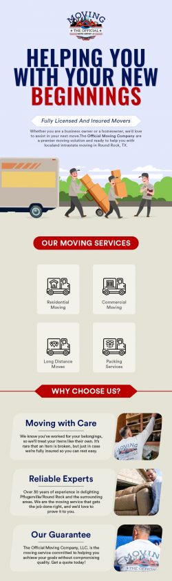 Get Reliable Moving Services in Round Rock, TX from The Official Moving Company