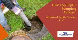 Hire Top Septic Pumping Auburn | Advanced Septic Service llc