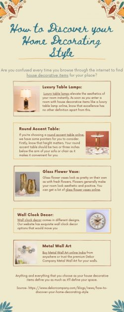 How to Discover your Home Decorating Style