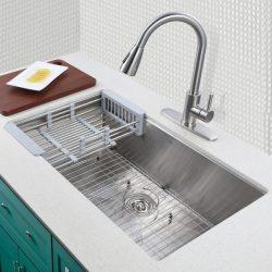 Best Kitchen Sink Faucets | Steel Double Bowl Sink