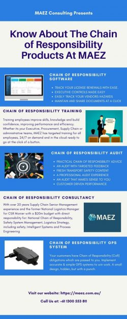 Know About The Chain of Responsibility Products At MAEZ