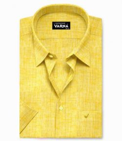 Crayola Yellow – Pure Linen Colour Shirts – LC20006