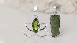 Buy Sterling Silver Moldavite Jewelry