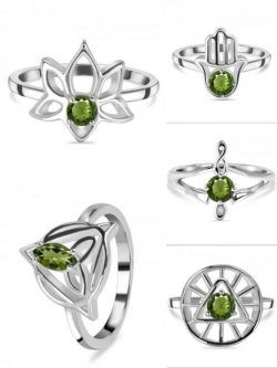 Real Green Moldavite Ring at Wholesale Price.
