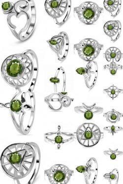 Buy Real Moldavite Stone Ring at Wholsale Price.