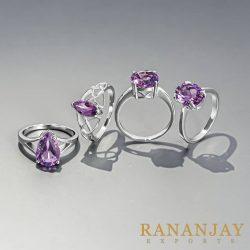 Buy Unique Wholesale Amethyst Rings form Online Store