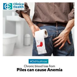 Chronic Blood Loss From Piles Can Cause Anemia