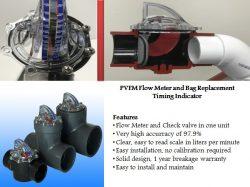 PVFM Flow Meter and Bag Replacement Timing Indicator