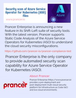 Security scan of Azure Service Operator for Kubernetes (ASO) files