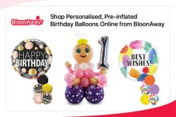 Shop Personalised, Pre-inflated Birthday Balloons Online from BloonAway
